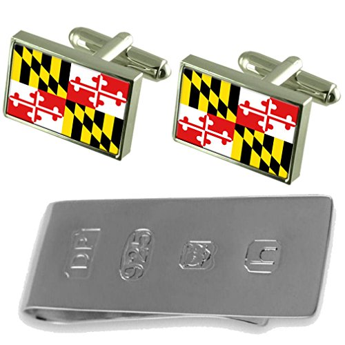 Cufflinks James amp; Maryland Bond Money Clip Flag Maryland Flag Cufflinks OIIwHA