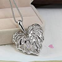 Saengthong Fashion Women Gold Plated Heart Bib Statement Chain Pendant Necklace Jewelry NEW
