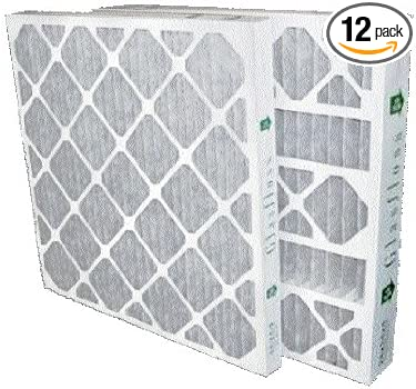 20x20x2 Merv 8 Furnace Filter by Glasfloss Industries 12 Pack