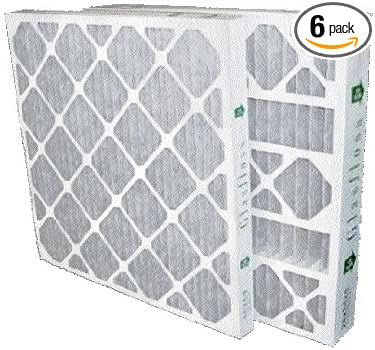 Box of 6 16x25x4 Air Filter MERV 10 Pleated by Glasfloss AC//Furnace Filters