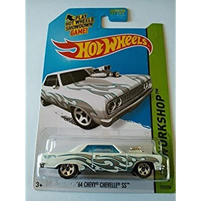 2014 Hot Wheels Hw Workshop '64 Chevy Chevelle SS - White: Toys & Games