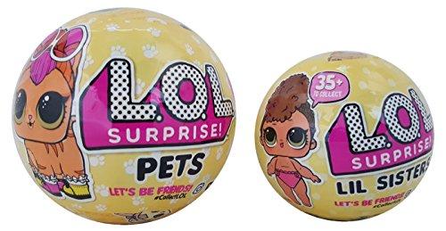 L.O.L. LOL Surprise Doll Series 3 Lil Sisters & Pets Ball Bundle
