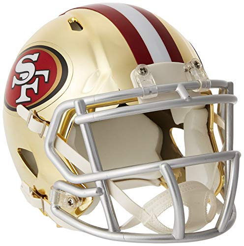 Riddell Chrome Alternate NFL Speed Authentic mini Size Helmet San Francisco 49ers