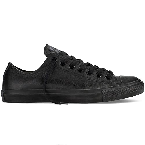 7f633d8be Converse Chuck Taylor All Stars Leather Shoes - Black Monochrome - UK 10   Amazon.es  Zapatos y complementos