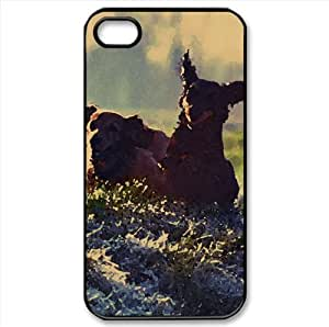 Gordon Setter Running In Field Watercolor style Cover iPhone 4 and 4S Case (Pets Watercolor style Cover iPhone 4 and 4S Case)