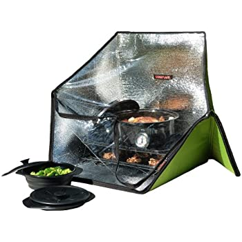 Sunflair Portable Solar Oven Deluxe with Complete Cookware, Dehydrating Racks and Thermometer