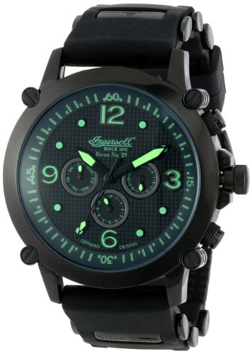 Ingersoll Men's IN1617BKGR Bison Automatic Green Accent Watch