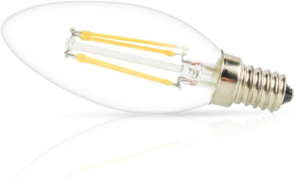 360LM E12 Base Chandelier LED Bulbs 4W 2700K Warm White Candle Light Bulbs Mengjay 1 Pcs LED Candelabra Bulbs Indoor/&Outdoor Vintage Bulb C35 Torpedo Shape Filament Bulb 30W Equivalent