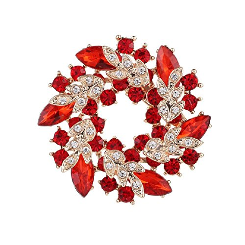 Daisy Jewelry Vintage Rhinestone Bridal Wedding Bouquet Flower Wreath Brooch Pins For Women Girls ()