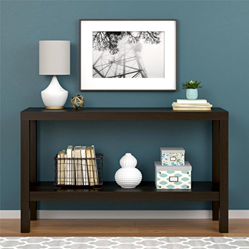Sturdy Sleek Design Entryway Expresso Console Table (Bombay Living Room Ottoman)