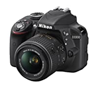 Nikon D3300 24.2 MP CMOS Digital SLR with Auto Focus-S DX NIKKOR 18-55mm f/3.5-5.6G VR II Zoom Lens (Black) from Nikon