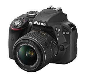 Nikon D3300 24.2 MP CMOS Digital SLR with Auto Focus-S DX NIKKOR 18-55mm f/3.5-5.6G VR II Zoom Lens (Black) by Nikon