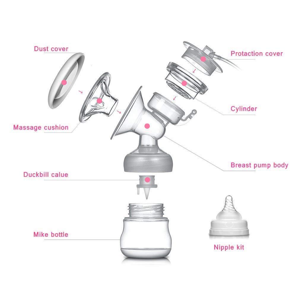 Elektrische Milchpumpe Wiederaufladbar Digitale LCD-Anzeige Dual Brustpumpe Stillen mit Massage /& Speicherfunktion