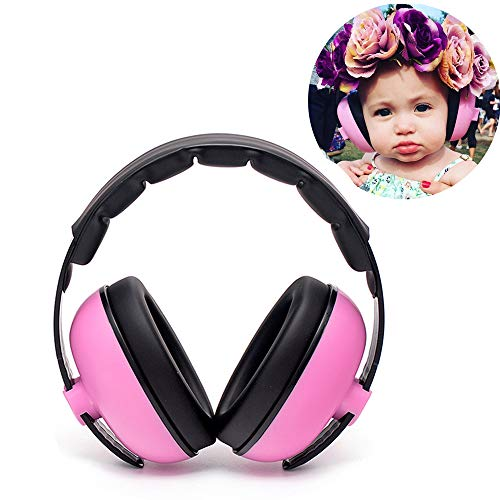 Baby Hearing Protection Headphone Noise Cancelling Reduction Earmuffs Adjustable Headphone for Babies Infants Ages 0-3, Ear Protection in Concerts, Fireworks, Travels, Construction