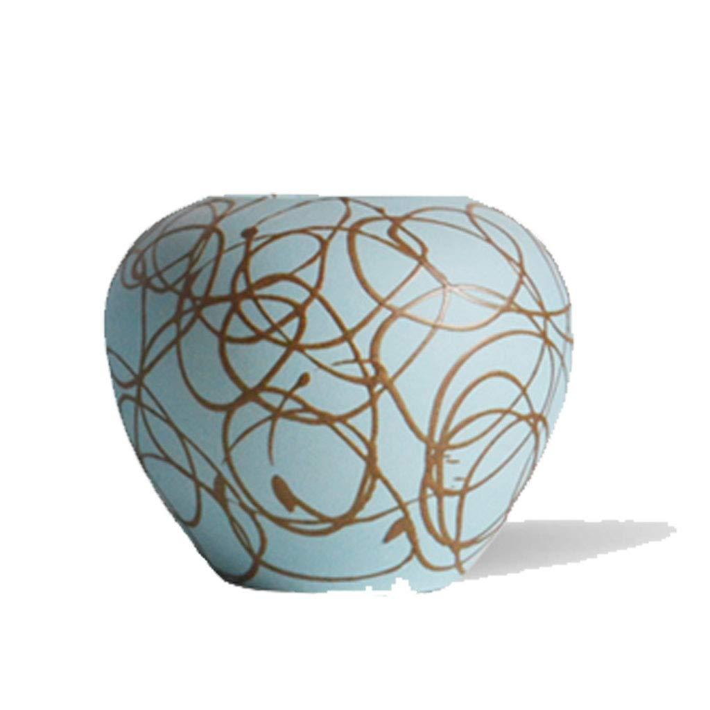 Florero Jarrón de cerámica Nordic Modern Home Decoration Porcelana Hecha a Mano Antigua (Tamaño : A)