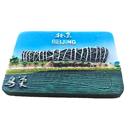 Beijing Summer Olympics - Summer Palace/Olympics Beijing China World Resin 3d Strong Fridge Magnet Souvenir Tourist Gift Chinese Magnet Hand Made Craft Creative Home and Kitchen Decoration Magnetic Sticker (Olympics Bird-Nest)