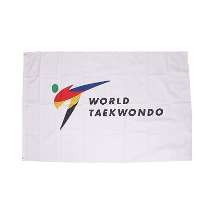 Amazon.com: Korea WT bandera mundial Taekwondo Federación ...