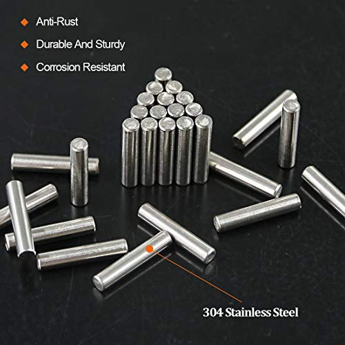 Rustark 50-Pcs Stainless Steel Shelf Support Dowel Pin Bracket Pegs Cabinet Furniture Shelf Pins Support Assortment Kit-Size 5mm×25mm by Rustark (Image #2)