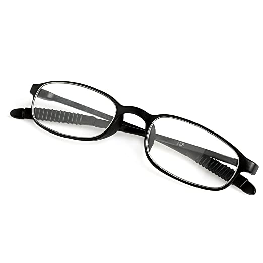 f8e34f55fe54 Amazon.com: Doober TR90 Women Men Flexible Reading Glasses Readers Strength  Presbyopic Glasses (Black, 1.0): Clothing