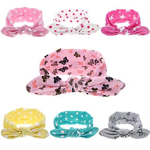 Baby Girls Toddler Infant Newborn Headband Hair bands Turban Head Wrap Knotted Hair Band … (Bunny Ear headband) ()