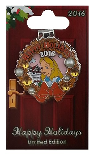 Happy Holidays Wreath - Disney Pin - Happy Holidays 2016 Wreaths Resort - Grand Floridian - Alice