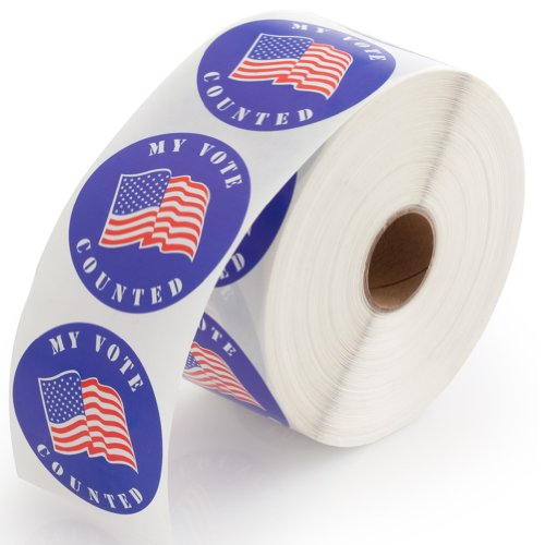 """""""My Vote Counted"""" Stickers - 1000 Labels Per Roll, 1 Roll Per Package"""