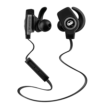 9d2cf8040af Amazon.com: Monster iSport Superslim Bluetooth Wireless in-Ear Headphones -  Black: Home Audio & Theater