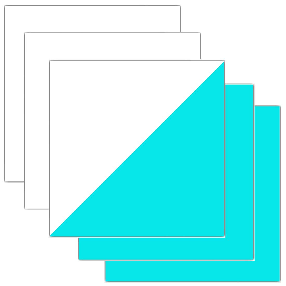 Glow in Dark HTV Sheets Iron-on Heat Transfer Vinyl for T-Shirts Apparel 12 Inches x 12 Inches Pack of 5 (Blue) ZELIN 4337030076