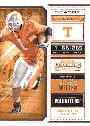(2018 Panini Contenders Draft Picks Season Ticket #47 Jason Witten Tennessee Volunteers Football Card)