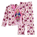 Nickelodeon Girls' Little JoJo Siwa 2-Piece Pajama Coat Set, big bow, big heart, 6
