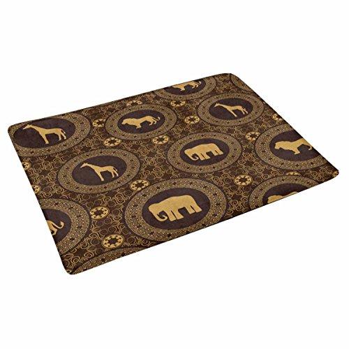 (INTERESTPRINT African Stile Pattern Doormat Anti-Slip Entrance Mat Floor Rug Indoor Door Mats Home Decor, Rubber Backing X-Large 30 X 18 Inches)