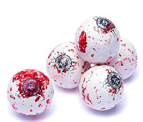 Bloody Spooky Eyes Eyeballs Halloween Gumballs Candy - 1 Pound Approximately 60 Gumballs Kosher Certified -