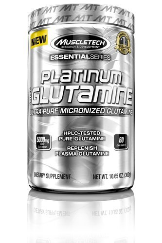 Supplément de Glutamine 100 % Platinum de MuscleTech, 302 grammes