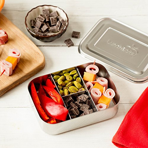 LunchBots Small Protein Packer Snack Container - Mini Stainless Steel Food Box With Portion Control Sections - Great for Nuts, Meat, Cheese and Finger Foods - Eco-Friendly, Dishwasher Safe and Durable by LunchBots (Image #5)