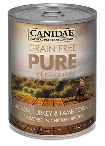 CANIDAE-Grain-Free-PURE-Elements-Cat-Wet-Formula-with-Chicken-Turkey-Lamb-13-oz-12-pack