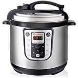 Costway 8 Quart 7-in-1 Multi- Use Programmable Pressure Cooker 1250W Digital Non Stick Stainless Steel Electric Pressure Cooker, Slow cooker, Rice cooker, Warmer