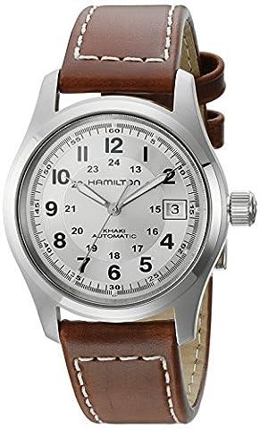 Hamilton Khaki Field Silver Dial Mens Watch H70455553 (Hamilton Khaki Field Automatic)