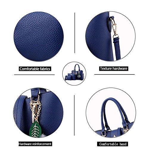 cross leather blue shoulder Navy wild New wallet three sets fashion ladies PU ladies handbag package oblique Tisdaini xwvCqaRn