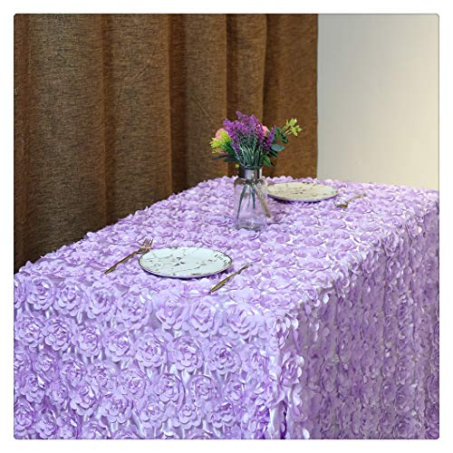 QueenDream Lavender Rosette Wedding Tablecloth Party Tablecloth 50