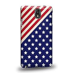 Case88 Premium Designs Art Diagonal Americana USA Design Protective Snap-on Hard Back Case Cover for Samsung Galaxy Note 3