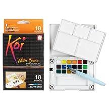 Sakura Koi Water Colors Pocket Field Sketch Box W/Brush 18 Colors XNCW18N by Sakura