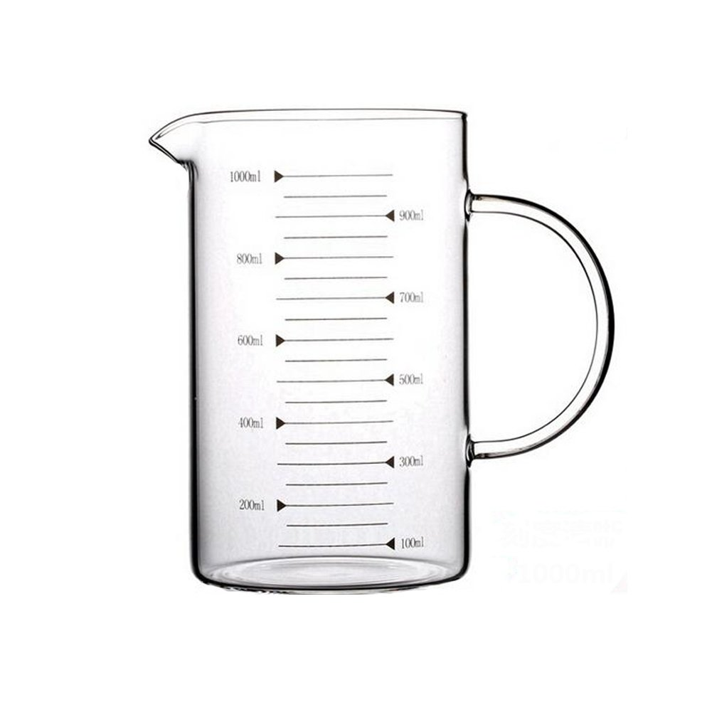 Borosilicate Glass Measuring Cup with Spout 1000ml