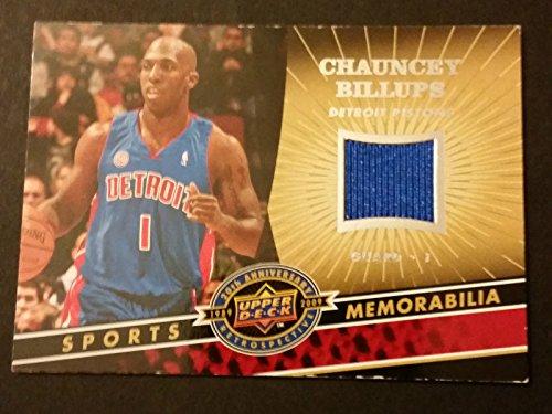 Chauncey Billups Pistons Colorado 2009 Upper Deck Game Jersey Certified JG4