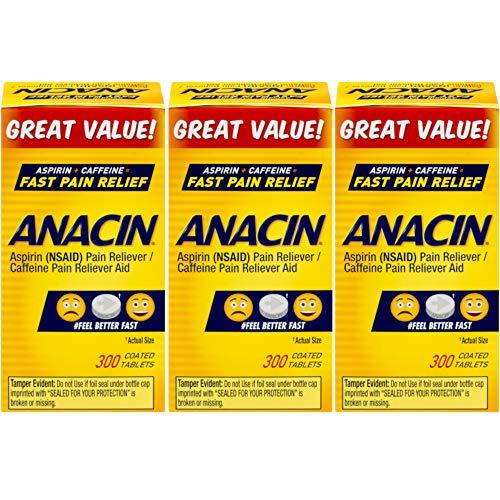Anacin Tablets 300 Tablets (Pack of 3) - Anacin Aspirin