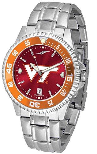 Virginia Tech VT Hokies Men's Watch Stainless Steel AnoChrome Wristwatch Steel Anochrome Watch