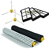 EcoMaid Accessories Tangle-Free Debris Extractor Set & HEPA Filter & Side Brush For Roomba 800 900 Series 870 880 980 Replenishment Kit