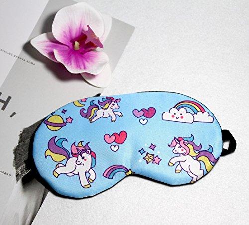 Fashion Unicorn 5Pcs Sleep Mask Cover Lightweight Blindfold Soft Eye Mask for Men Women Kids by Yosbabe (Image #5)