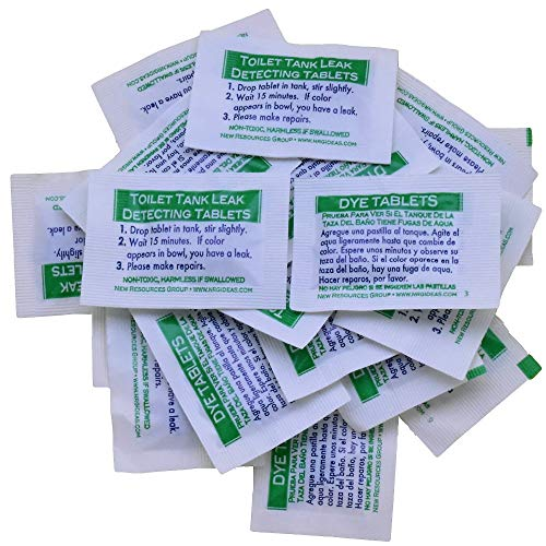 Toilet Leak Detection Dye Tablets (Detect Silent Leaks) 20 Pack (Leak Detection Dye Tablets)