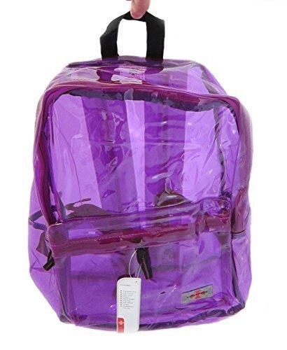 Shorts lila Trip Schultasche durchsichtig Rucksack Rucksack q1HwcxWzCI