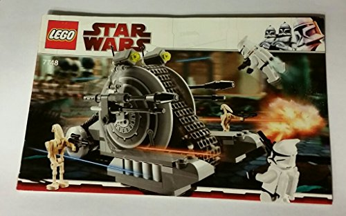 Original Lego Instruction Booklet   Star Wars Set 7748 Corporate Alliance Tank Droid  Instruction Book Only   No Legos